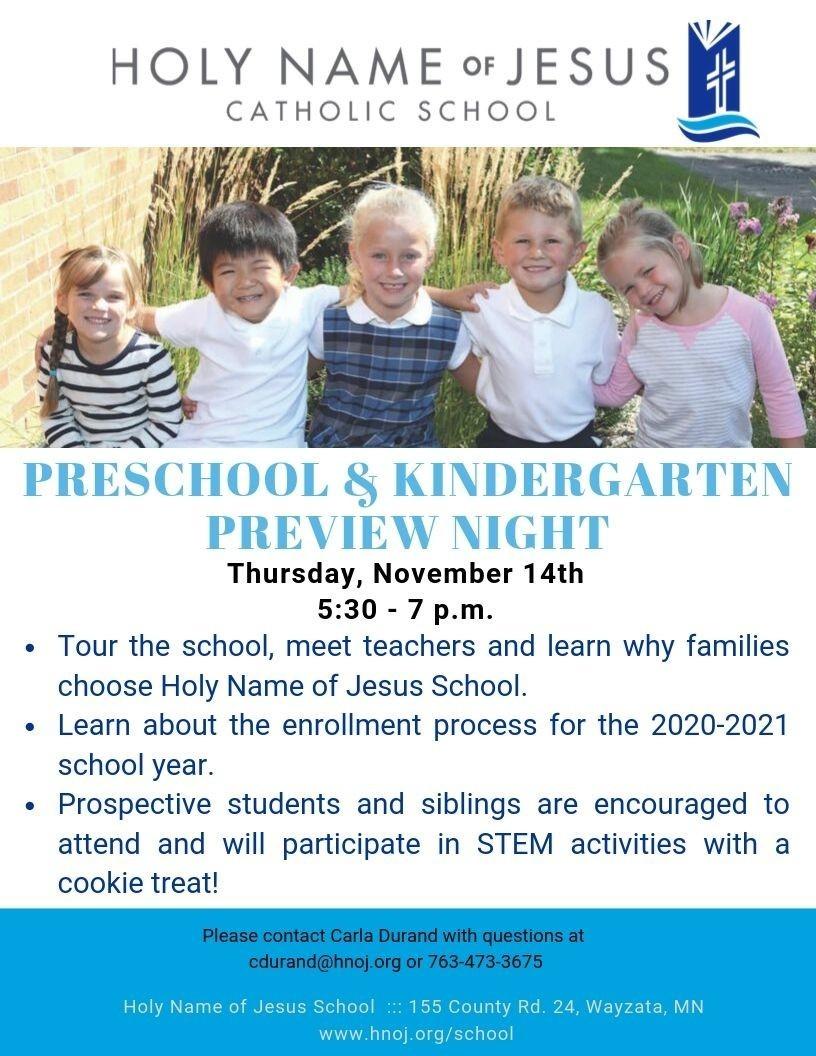 Preschool And Kindergarten Preview