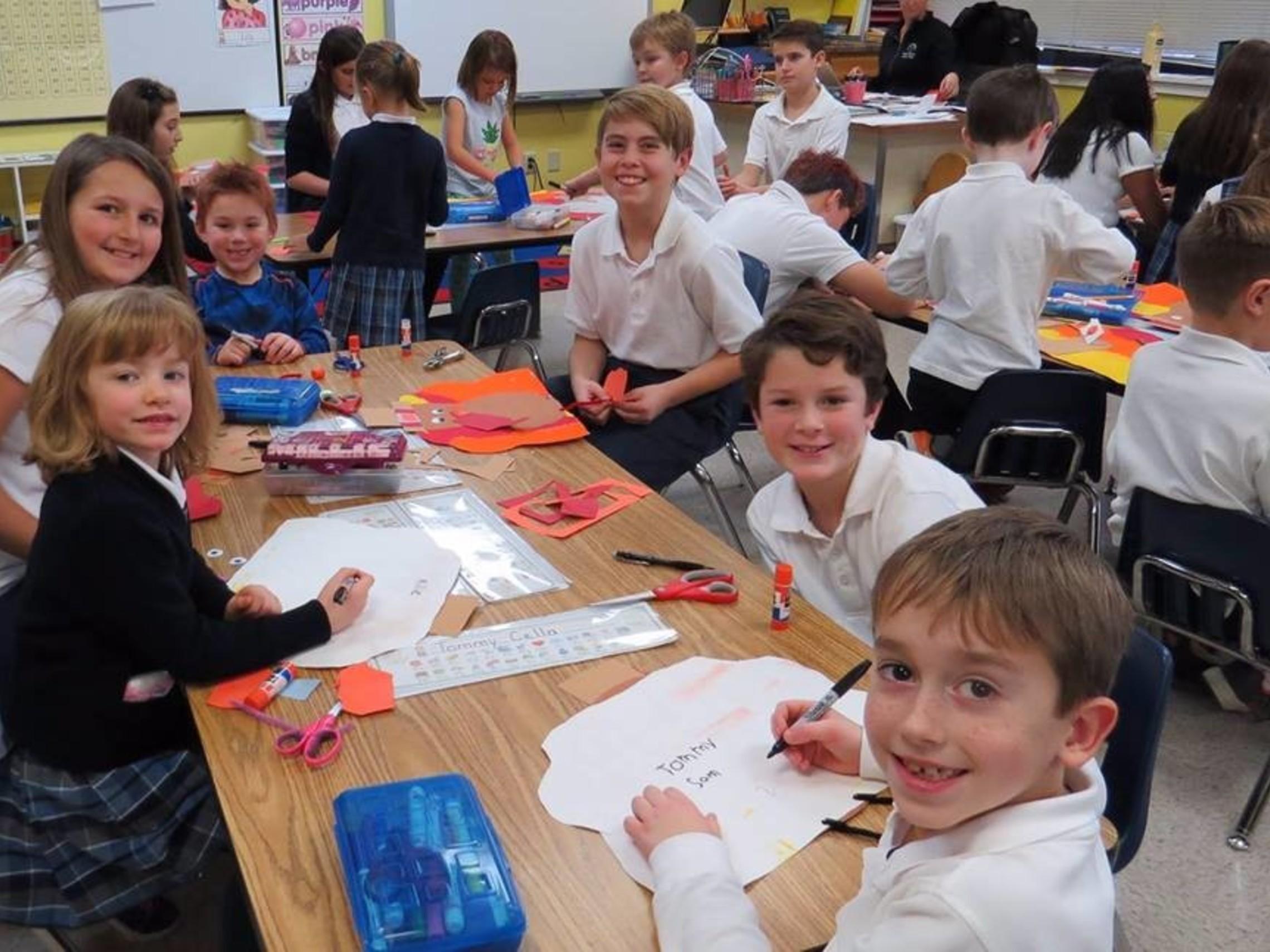 Kindergarten and 6th grade buddies