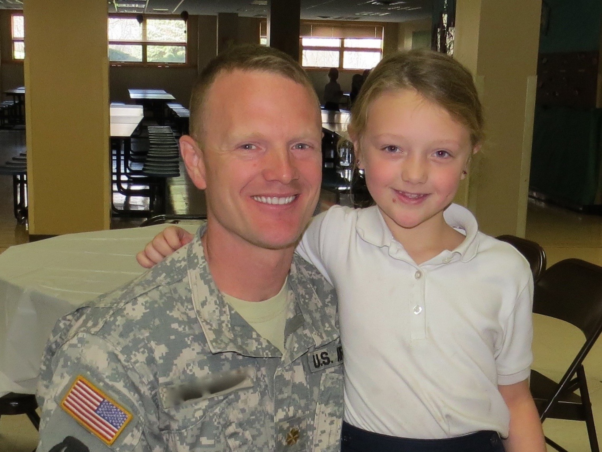 Vets Day Dad And Daughter 1